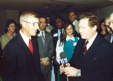Dan Coughlin interviews Notre Dame Coach Lou Holtz