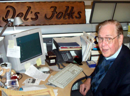Del Donahoo at his desk