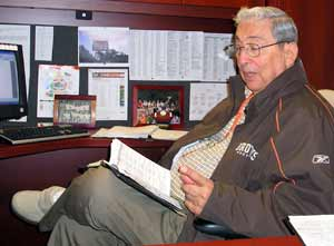 Dino Lucarelli in his office at Browns Stadium