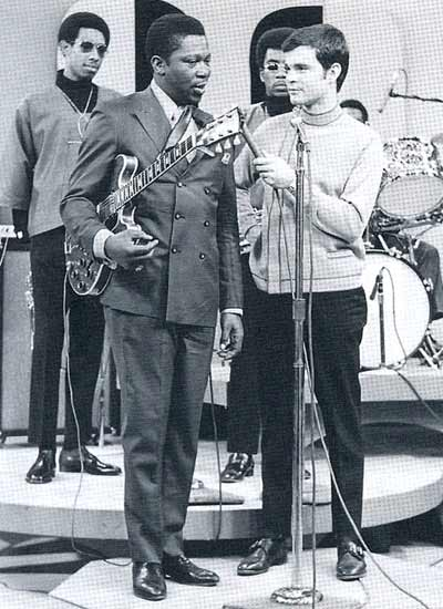 BB King and guitar Lucille with Don Webster on Upbeat