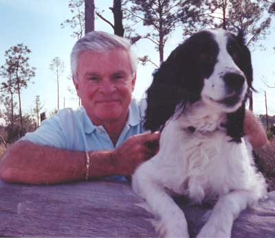 Don Webster with dog Daisy