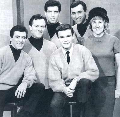 Frankie Valli and the Four Seasons with Don and rock critic Jane Scott
