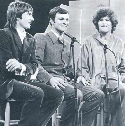 Monkees Davy Jones and Mickey Dolenz with Don