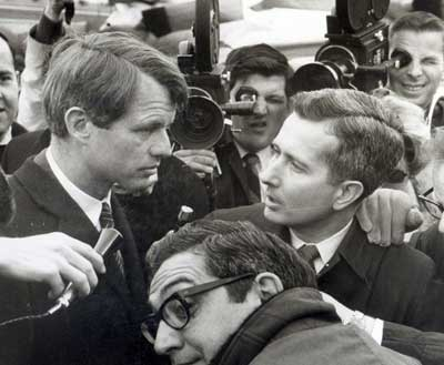 Doug Adair with Robert Kennedy RFK the day after Martin Luther King was assasinated