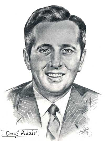 Drawing of Doug Adair