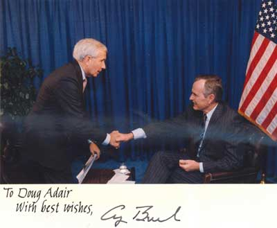 Doug Adair with President George Herbert Walker Bush