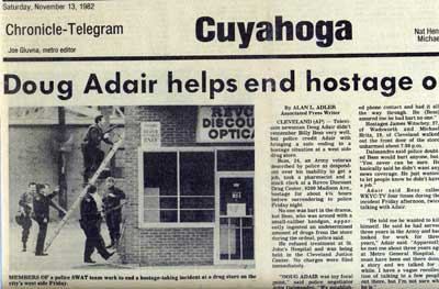 Doug Adair newspaper clipping