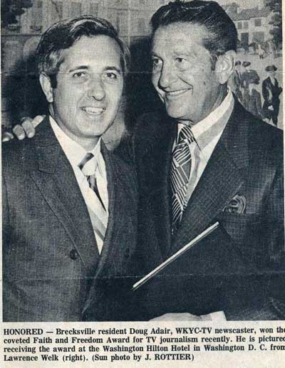 Doug Adair with Lawrence Welk