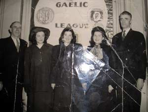 Maeve Campbell and friends in the Gaelic League