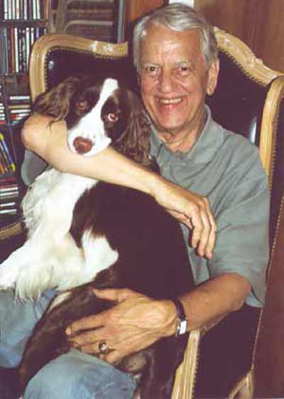 Fred Griffith with dog Zin