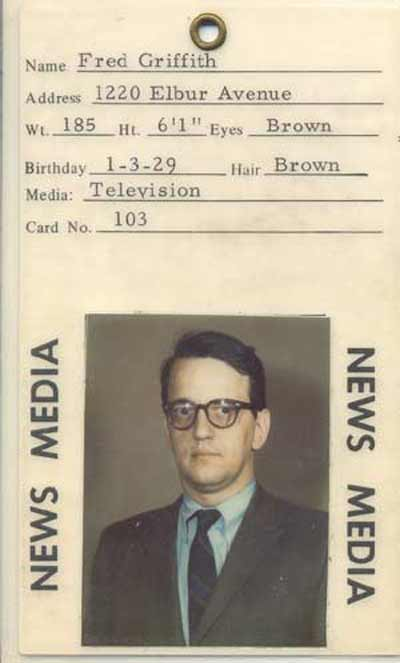 Fred Griffith press pass