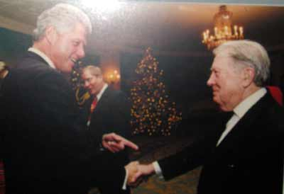 President Bill Clinton with George Condon