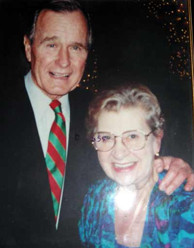 President George HW Bush and Marge Condon