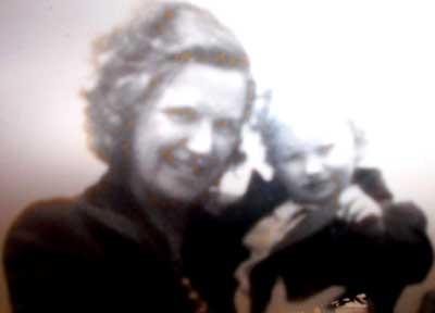 Young Gerald McFaul and his mother