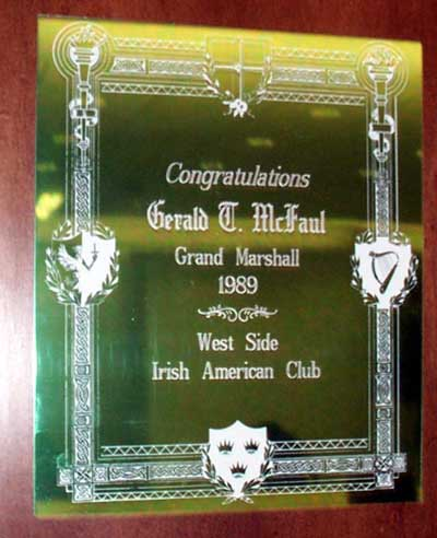 Sheriff Gerald McFaul honored by Irish group