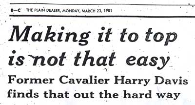 1981 Plain Dealer article about Harry Davis