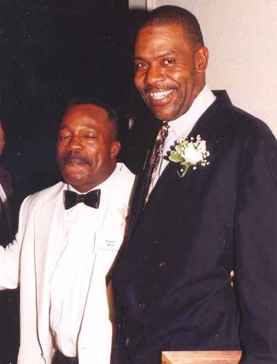 Larry Key with Harry Davis in Harry's 1998 induction into FSU Hall of Fame