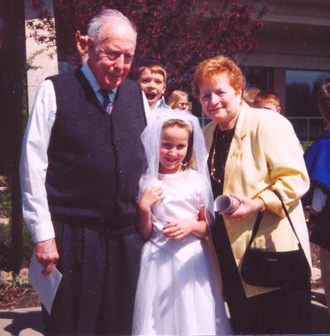 Ed and Mary Terese Hurley with granddaughter Shaelin