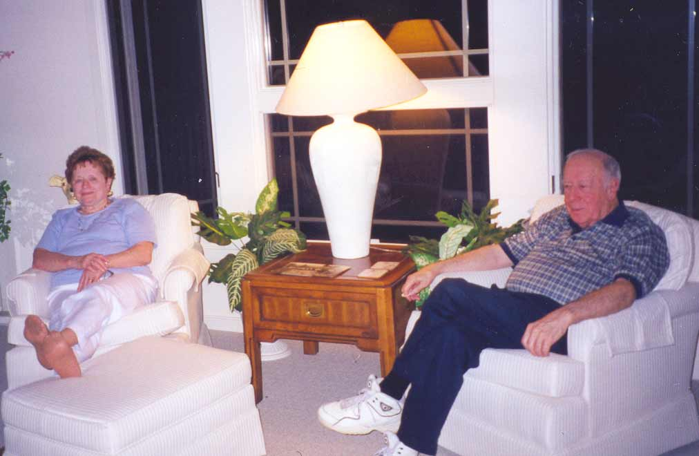 Ed and Mary Terese relaxing