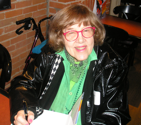 Jane Scott signing autographs November 2007