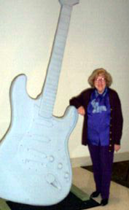 Jane Scott with Guitarmania Guitar