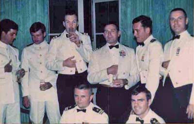 Jim Cookinham and other officers of SSN in 1969