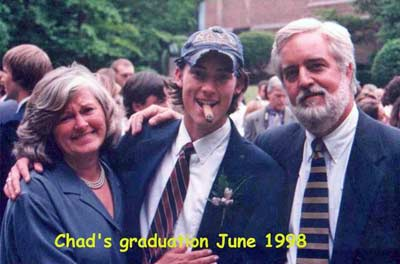 Cindy and Jim Cookinham at son Chad's graduation in 1998