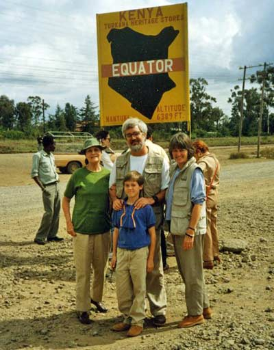 Jim Cookinham on Equator in Kenya in 1990