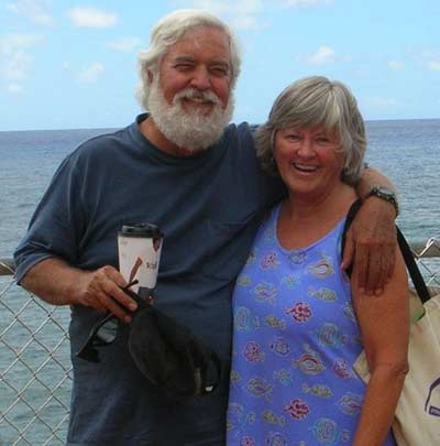 Jim and Cindy Cookinham in Hawaii in 2006