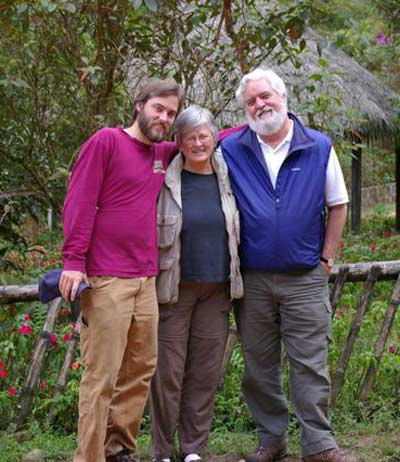 Chad, Cindy and Jim Cookinham in Ecuador in 2005