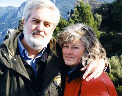 Jim and Cindy Cookinham in Mallorca in 2003