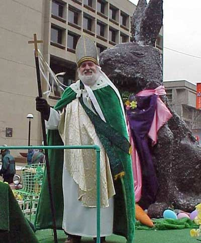 Jim Cookinham as St. Patrick in 2000