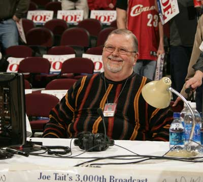 Joe Tait before his 3000th Cleveland Cavs game
