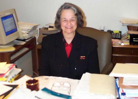 Judge Diane Karpinski at her desk
