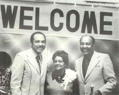 Carl Stokes, mother Louise Stokes and Louis Stokes