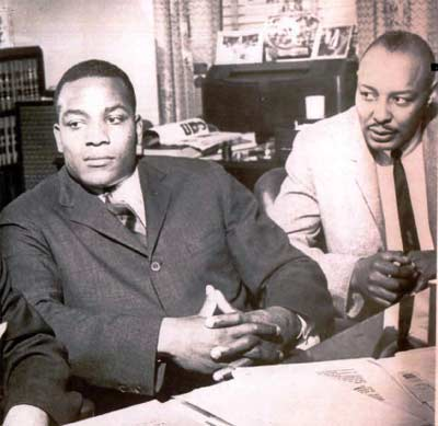 Jim Brown with Louis Stokes