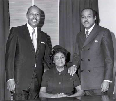 Louis and Carl Stokes with their mother Louise