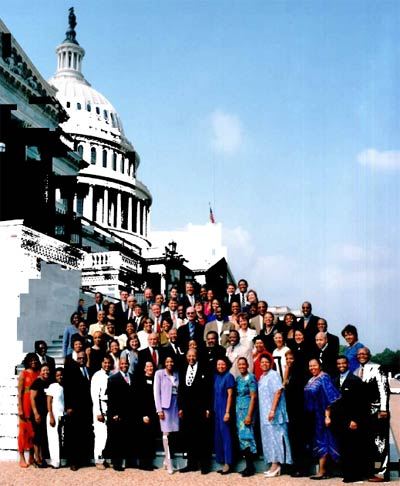 Congressman Louis Stokes and his congressional staff