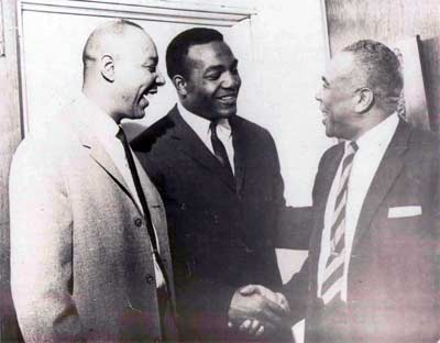 Lou Stokes, Jim Brown and law partner Norman Minor