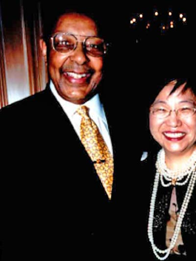 Louis Stokes with Margaret Wong