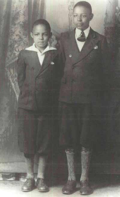 Young Carl and Louis Stokes