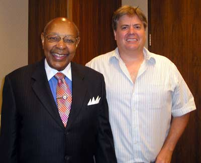 Louis Stokes with Dan Hanson
