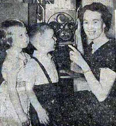 Kathy and Stevie with Mom - Miss Barabara - in 1958