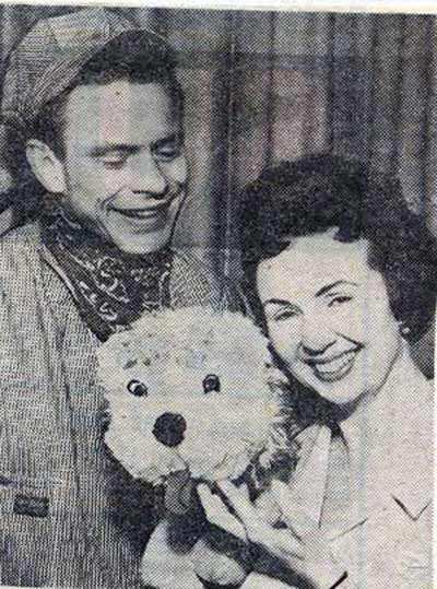 Captain Penny (Ron Penfound) with Miss Barbara
