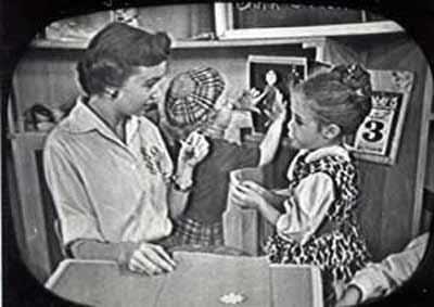 Miss Barbara on Cleveland Romper Room in 1958