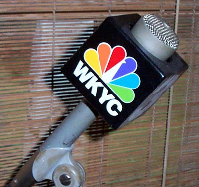 Joe Mosbrook's Channel 3 WKYC microphone