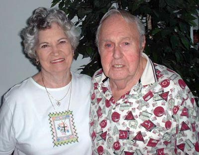 Helen and Ed Mugridge on their 65th anniversary