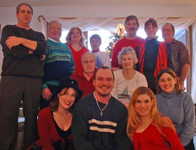 Ed Mugridge family Christmas 2002