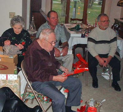 Mugridges opening presents in 2001