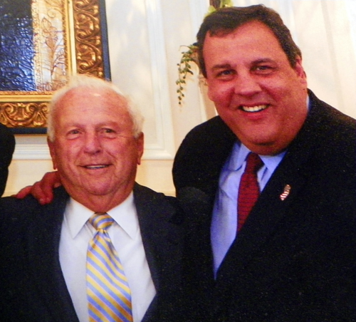 Nacy Panzica and Gov. Chris Christie